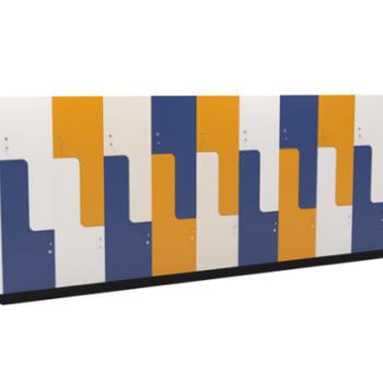 Custom Pandora lockers with benching