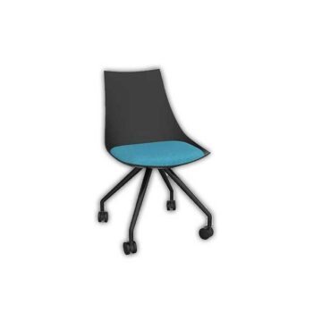 Planet Black Chair with Castor Base