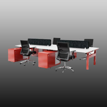 Configure Back to Back 6 Person Electric Height Adjustable Workstations