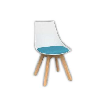 Planet White Chair with Oak Base