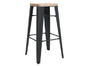 STOOL COGNAC V2 .75 Black(1)