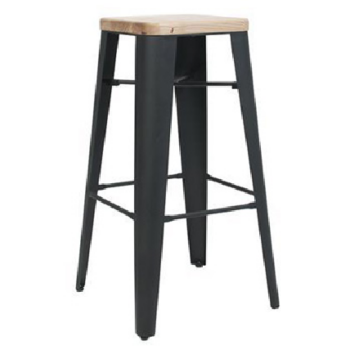 STOOL COGNAC V2 .75 Black