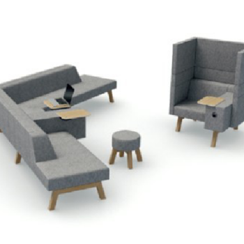 Hybrid Modular Soft Seating