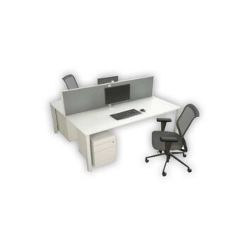 Pre-Set Straight 2 Person Workstations Back to Back