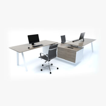 Flex Zee System 2 Person Workstation