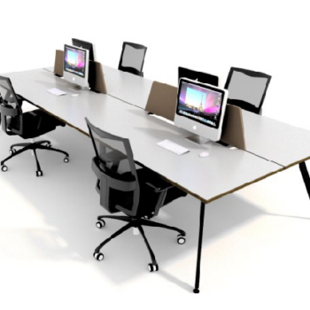 FX Linear 6 Person Workstations