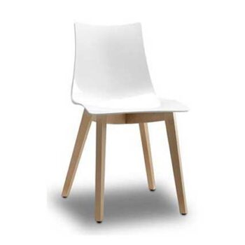 Welda White Visitor Chair