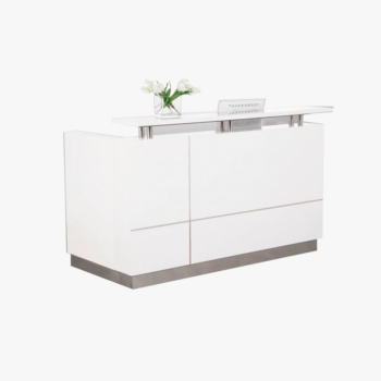 Hugo White Reception Desk