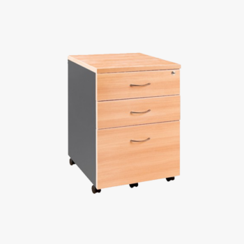 Melamine Pedestal Mobile 2 drawer plus 1 file