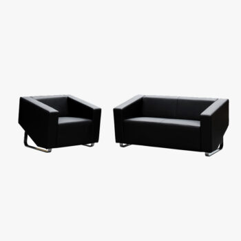 Cube Leather 1 Seater Couch