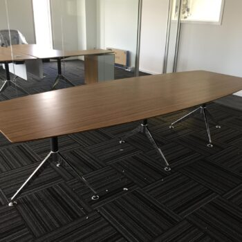 Nova Boat Shape Veneer  Boardroom Table 2400 x 1200