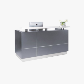 Hugo Metallic Reception Desk