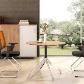 Nova Desk with Return Zebrano