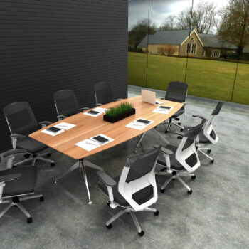 Tenza High Quality Boat Shape Boardroom Table