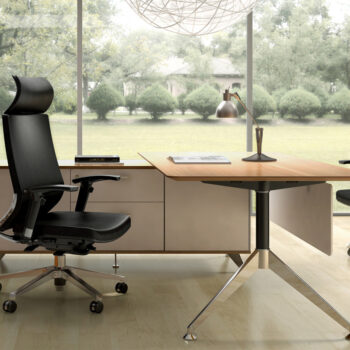 Tenza Executive Desk with Return
