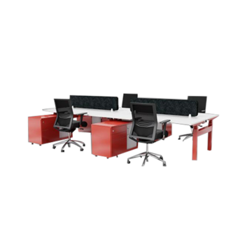 Configure Back to Back 2 Person Electric Height Adjustable Workstations
