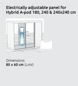 Electrically adjustable table for A Pod