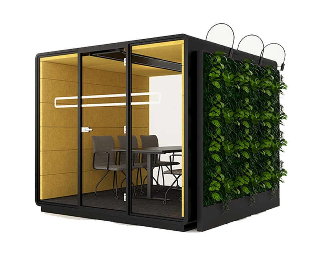 Meeting Pods with Vertical Garden