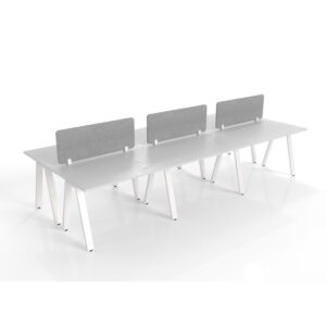 The Office Workstations 6 person White