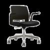 ARM CHAIR SNOUT 4 LEG WHITE BLACK SEATPAD