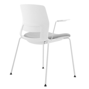 ARM CHAIR SNOUT 4 LEG WHITE GREYBLACK SEATPAD 800 back