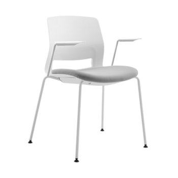 ARM CHAIR SNOUT 4 LEG WHITE GREYBLACK SEATPAD 800 front 1 1