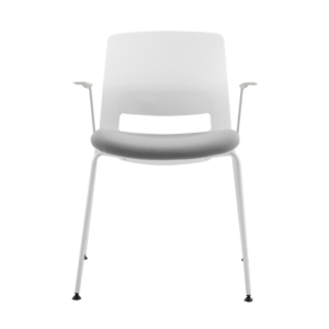 ARM CHAIR SNOUT 4 LEG WHITE GREYBLACK SEATPAD front front