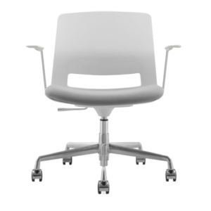 ARM CHAIR SNOUT 4 LEG WHITE GREYBLACK SEATPAD front front 800
