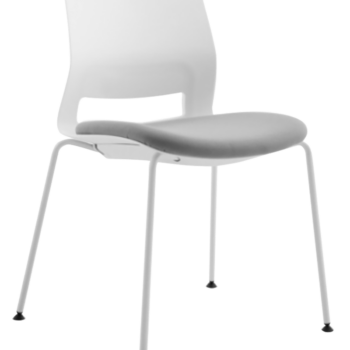 CHAIR SNOUT 4 LEG WHITE GREY SEATPAD 1 1