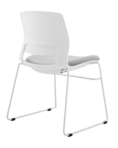 CHAIR SNOUT SLED WHITE GREY SEATPAD 3