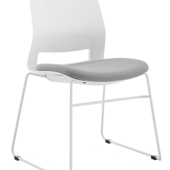 CHAIR SNOUT SLED WHITE GREY SEATPAD
