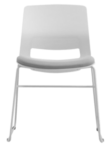 CHAIR SNOUT SLED WHITE GREY SEATPAD 4