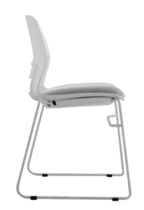 CHAIR SNOUT SLED WHITE GREY SEATPAD 5