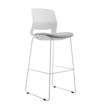 STOOL SNOUT 760 WHITE GREY SEATPAD 1