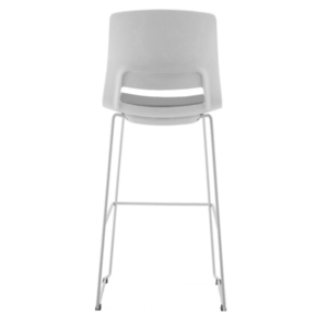 STOOL SNOUT 760 WHITE GREY SEATPAD back back 1