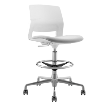 STOOL SNOUT CASTOR WHITE GREY BLACK SEATPAD NEW 2