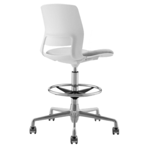 STOOL SNOUT CASTOR WHITE GREY SEATPAD side new 1