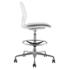 STOOL SNOUT CASTOR WHITE GREY SEATPAD side side new 1